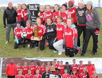 Both male and female varsity Zodiacs soccer teams came out on top of this year's Zone 4 play. (Greg Vandermeulen/The Winkler Times)