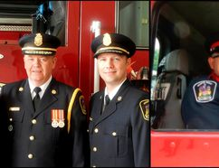 Photos courtesy of John Whelan/Quinte West Fire Department Quinte West Fire Department firefighter Jason Forth is shown here, at left, with Chief John Whelan and Deputy Dan Smith. Forth died Tuesday evening at the age of 43. Shown at right is Ron Globe, a volunteer firefighter with Quinte West and a special constable with the Belleville Police Services. He died Oct. 3, at the age of 55.