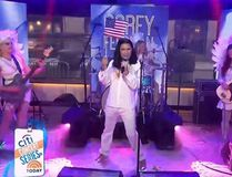 Corey Feldman performs again on the Today show. (Screen shot)