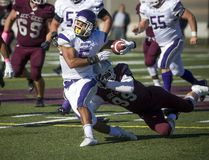 The Western Mustangs were in Ottawa to take on the University of Ottawa's Gee-Gee's at the Gee-Gees Field Saturday October 15, 2016. Mustang's Alex Taylor tries to get away from Gee-Gee's Kevin Mackey during Saturday's game. Ashley Fraser / Postmedia Ashley Fraser