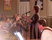 Country singer Marie Bottrell performs for the audience at St. James Church in Ingersoll Saturday night, Oct. 15.