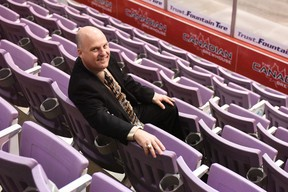 Revolution Place new general manager Scott Clark is pictured seated in the stands of the arena. Clark took over from former general manager Jane Cada-Sharp about a month ago.  Svjetlana Mlinarevic/Daily Herald-Tribune