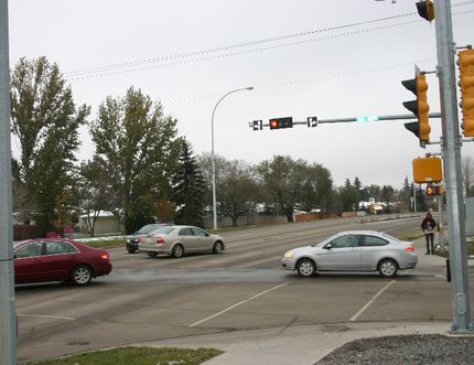 A 20-year-old female was killed in a single vehicle accident around 4 a.m. on Sunday, Oct. 16. The accident occured at the intersection of 54 Ave and 50 Street in Leduc. Bobby Roy/Regional Editor