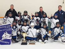 The Saugeen Shores Minor Hockey Association Novice B squad captured the 2016 Grant Lee Memorial Tournament championship in Hensall. Submitted photo