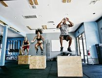 A post-holiday workout program includes box jumping. (Getty Images)