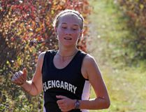 Brooke Lapierre of Glengarry District High School is well in front, near the end of the senior girls SD&G cross country race at Holy Trinity on Wednesday. Kevin Gould/Cornwall Standard-Freeholder