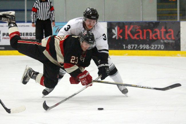 The Hawks took a 7-1 win over Leduc on Oct. 18. (Lindsay Morey/Record Staff)