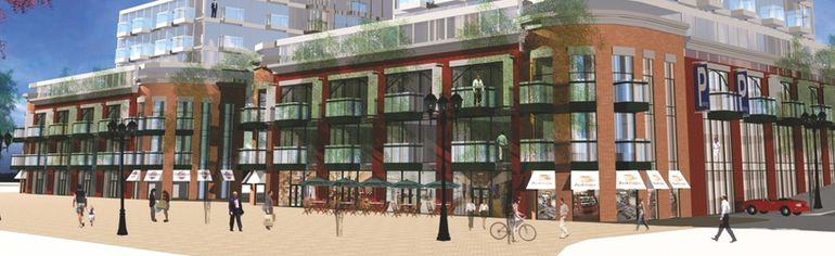 This artist's rendering shows one concept for the proposed Blockhouse Square development on Water Street, a design that may change due to more recent developments. (SUBMITTED PHOTO)