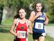 Kaylee White (190) of the Northern Vikings leads Payton Sabourin (33) of the Chatham-Kent Golden Hawks in the junior girls' race at the LKSSAA cross-country championship at Willow Ridge Golf & Country Club in Blenheim, Ont., on Wednesday, October 19, 2016. Sabourin came back to edge White for the win. Mark Malone/Chatham Daily News/Postmedia Network