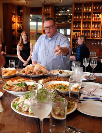Chris Shepherd, owner of Houston's Underbelly, hosts a stop at his eatery on a food tour of his Montrose neighbourhood by featuring the food of other nearby restaurants. PAT LEE PHOTO