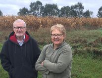 Brian Russell and Lois Nisbet oppose plans to use Class 1 farmland for a gravel pit in Thames Centre. (JOHN MINER, The London Free Press)