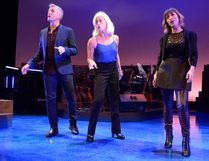 Brendan Wall, Louise Pitre, centre, and Emm Gryner star in The Grand Theatre production of Joni Mitchell: River, playing until Nov. 5. (MORRIS LAMONT, The London Free Press)