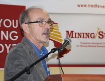 KWG vice-president Moe Lavigne speaks about the Ring of Fire at the sixth-annual Nishnawbe Aski Development Fund Mining Summit held in Timmins. Alan S. Hale/Postmedia Network