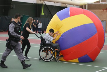 Children enjoy activities at the Durham Regional Police Children's Games on Saturday October 22, 2016. Children with disabilities compete in sporting activities at the Pickering  Recreation Complex.Veronica Henri/Toronto Sun/Postmedia Network
