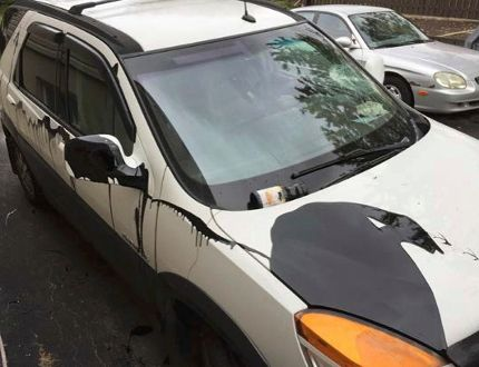 Greater Sudbury Police investigators are looking for the people who vandalized the SUV of an elderly New Sudbury couple.