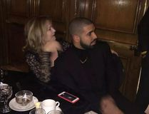 """Drake caused a buzz in Windsor. Ont., Saturday night when he attended a wedding reception at the Caboto Club. (Twitter Photo/<a href=""""https://twitter.com/abbeydufault9/"""" target=""""_blank"""">@abbeydufault9</a>)"""