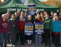 The Espanola Spartan Cross-Country Running NSSSA Team Champs: from left to right: Robyn Collins, Kayah Robinson, Brooke Brohart, Kate Sheppard, Miles Sutherland, Olivia Yachuk, Kennedy Parks, Theron McGregor, Katie Renaud, Hailey Clark, Justice Abitong, Anja Hansen, Ethan Moffatt, Mackenna Podlatis, Mayson Stencill, Isaiah Robinson, McKenna Perlin, Austin Hawkins, Colin Withers, Zach Richer, Noah Gallant, Coach Dave Gallant, Assistant Coach Kelly O'Farrell. Photo by David Gallant/For The Mid-North Monitor