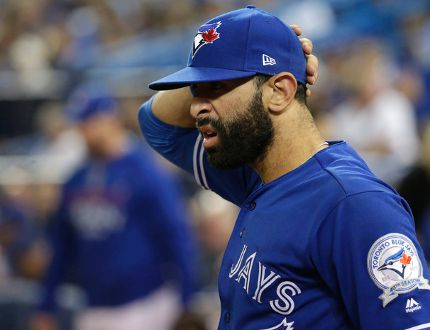 Toronto Blue Jays' Jose Bautista in Game 5 of the American League Championship Series between the Jays and Cleveland Indians in Toronto on Oct. 19, 2016. (Craig Robertson/Toronto Sun/Postmedia Network)