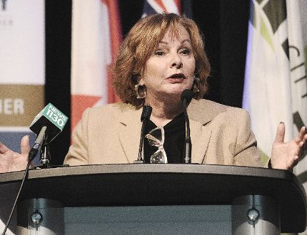 Mayor Linda Hepner speaks on the City of Surrey embarking on a comprehensive, collaborative and measurable approach to public safety by launching a new Public Safety Strategy in the city on Monday. NICK PROCAYLO/PNG