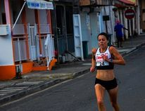 Emily Setlack took the first place spot in the 10 kilmetre race held in Guadeloupe, a French Territory, earlier this month.