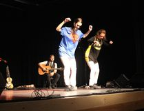 (L to R) Julie Fitzgerald and Kerry Fitzgerald of Everything Fitz had a stepdancing duel when the group performed at the Kerry Vickar Centre on Sunday, October 23. They are in Sudbury this week.