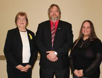 Left to right are: Rennie Harper, Terry Farden and Jani Burgess, the three candidates Nipawin voters will choose from for the job of Mayor for the next four years. Election day is Wednesday, October 26.