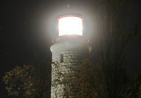 The Point Clark Lighthouse in Huron-Kinloss saw over 4,700 people visit the National Historic Site in 2016. The lighthouse is seen in an overexposed photo taken during an evening last week. (Troy Patterson/Kincardine News and Lucknow Sentinel)