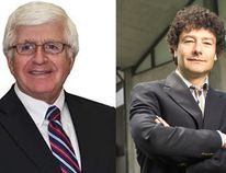 Long-standing educator and politician Rick Bartolucci, left, and Stratford Festival artistic director Antoni Cimolino will receive an honorary doctorate at Laurentian University's fall convocation ceremonies on October 29, 2016. Supplied photo