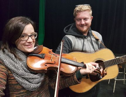 Fiddle player Adrianna Ciccone and her band including guitarist Colin Cotter will be playing at the O'Gorman High School this Friday at 7 p.m. as part of their annual fall fiddle concert.