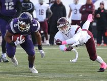 Western Mustangs running back Alex Taylor breaks free from McMaster Marauders linebacker Eric Blake during their university football game at TD Stadium in London, Ont. on Saturday October 22, 2016. (CRAIG GLOVER, The London Free Press)