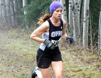 Andrea Snider, of the GPRC Wolves, runs in the women's 5k race at the Alberta Colleges Athletic Conference's Provincial Cross-Country Championships on Saturday October 29, 2016 at the Wapiti Nordic Centre, 10km south of Grande Prairie, Alta. Logan Clow/Grande Prairie Daily Herald-Tribune/Postmedia Network