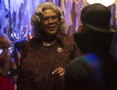 In this image released by Lionsgate, Tyler Perry portrays Madea in a scene from, 'Tyler Perry's Boo! A Madea Halloween.' (Daniel McFadden/Lionsgate via AP)
