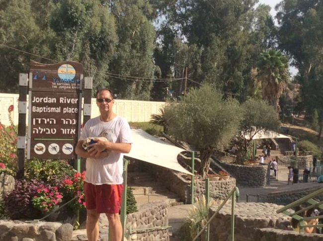 Cornwall's David Merpaw, an endurance athlete focusing mainly on distance swims, during a recent memorable visit to Israel.