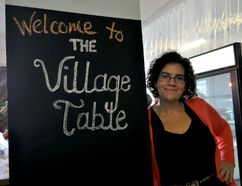 Sarah Campbell, executive director of Meals on Wheels London, at The Village Table, the organization's new space inside 630 Dundas Street in London Ont. November 1, 2016. CHRIS MONTANINI\LONDONER\POSTMEDIA NETWORK