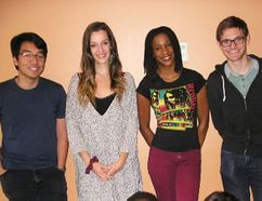The cast of Sarasvati Productions' Shattered forum theatre piece. (Photo Submitted)