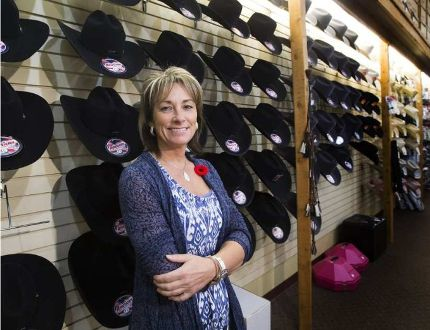 Welsh's Saddlery and Western Wear Jocelyne Lambert, on Nov. 2, 2016, says the Canadian Finals Rodeo is as busy as Christmas for the retailer.