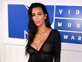 In this Aug. 28, 2016 file photo, Kim Kardashian arrives at the MTV Video Music Awards in New York. (Chris Pizzello/Invision/AP, File)