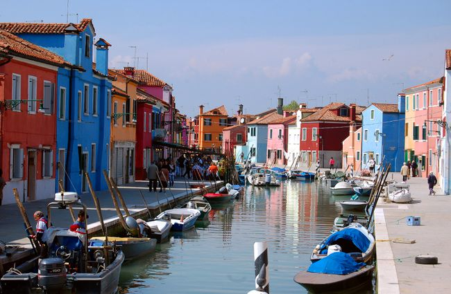 Colourful buildings line the canals of the small island of Burano in Venice's lagoon. RICK STEVES PHOTO