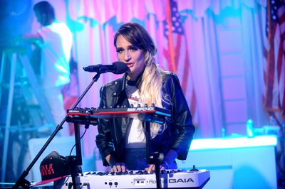 "Recording artist Sadie Dupuis aka Sad13 performs on stage during MTV News Election Night: ""The People's Playhouse"" at MTV Studios on Nov. 8, 2016 in New York City.  (Photo by Brad Barket/Getty Images for MTV News)"