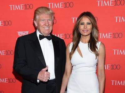 Republican presidential candidate, Donald Trump, left, and his wife Melania Trump attend the TIME 100 Gala, celebrating the 100 most influential people in the world, at Frederick P. Rose Hall, Jazz at Lincoln Center on Tuesday, April 26, 2016, in New York. (Photo by Evan Agostini/Invision/AP)