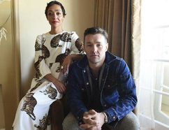 In this Oct. 22, 2016 photo, Ruth Negga, left, and Joel Edgerton pose during a portrait session to promote their film, 'Loving' in Los Angeles. (Photo by Jordan Strauss/Invision/AP)