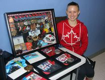 Petawawa Predators alumna Alyson Ackman displays the medals and other swimming honours she's won since leaving the club, including five medals from competing in the Commonwealth Games, the PanAm Games, the Pan Pacific Games and the Worlds in Russia. She just missed qualifying for the 2016 Olympics, which she said was a hard thing to deal with.