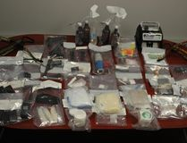 During a search of a rural residence, near Bon Accord on November 3, 2016, police located large quantities of methamphetamine, cocaine and GHB. The street value of the drugs located is estimated at $262,000. Supplied.