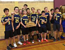 BCI wins the Brant County junior high school boys volleyball championship. (Expositor photo)