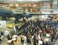 Jack Evans/For The Intelligencer Hundreds of people gathered at the National Air Force Museum of Canada for Sunday's concert which included the Quinte Symphony Orchestra.