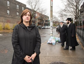 City Councillor Mindy Pollack is seen in Outremont Wednesday, November 16, 2016 in Montreal. Citizens will vote in a referendum on whether to overturn a bylaw banning places of worship on Bernard Avenue, a busy and colourful street in the borough of Outremont. (THE CANADIAN PRESS/Ryan Remiorz)