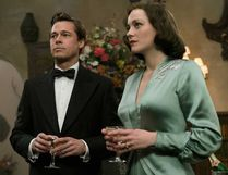 "Brad Pitt and Marion Cotillard in ""Allied."""