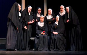 The Don Wright Faculty of Music's UWOpera Workshop performance of Puccini's Suor Angelica & Gianni Schicchi in London, Ont. The nuns gather to hear the story of Sister Angelica. Photograph taken on Wednesday November 16, 2016. (MIKE HENSEN, The London Free Press)
