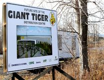 An artist's rendering of the Giant Tiger Distribution Centre can't illustrate the sheer size of the facility perched atop a hill at Johnstown, spanning an area of more than 600,000 square feet.An artist's rendering of the Giant Tiger Distribution Centre can't illustrate the sheer size of the facility perched atop a hill at Johnstown, spanning an area of more than 600,000 square feet. (The Recorder and Times)