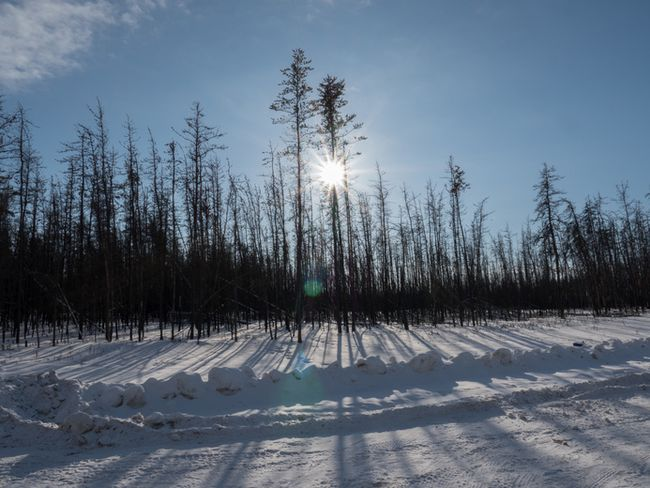 The winter ice road from Fort McMurray to Fort Chipewyan in February, 2015. Photo by Ryan Jackson / Edmonton Journal/ Postmedia Network